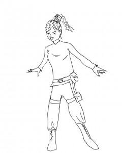 Kaina, hoofdpersoon van Leren Vliegen